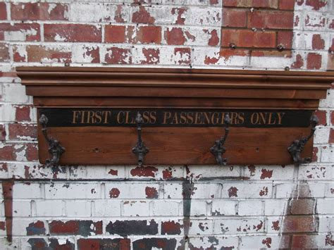 woods vintage home interiors first class waiting room coat hook board by woods vintage