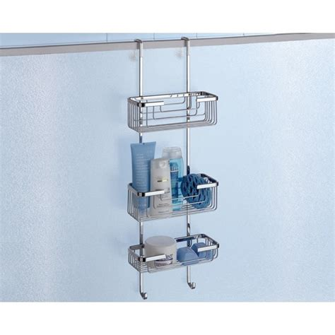 The Door Shower Caddy by Gedy 5684 Shower Basket Wire Nameek S