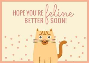 get well soon card templates by canva