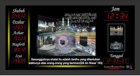 Jam Waktu Sholat Digital Bandung Remote Kbl Suara Mp3 Fitur Lengkap digital teknologi jadwal sholat digital