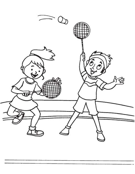 badminton coloring pages