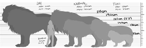 wolf size compared to dire wolf size comparison