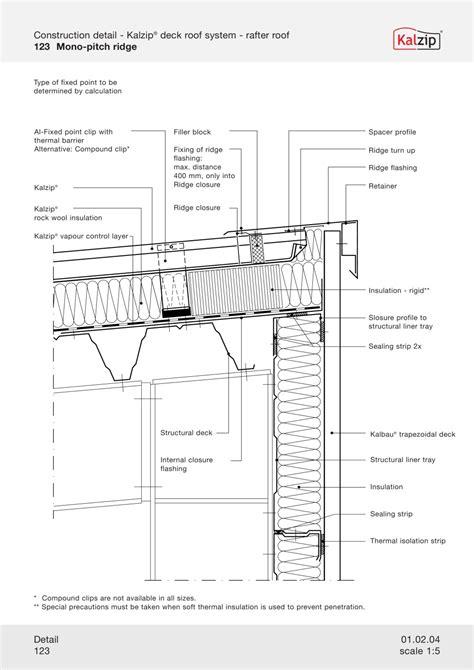 building section detail drawing kalzip construction details detail pinterest