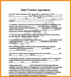 Agreement Letter For Joint Venture 7 Joint Venture Agreement Template Workout Spreadsheet