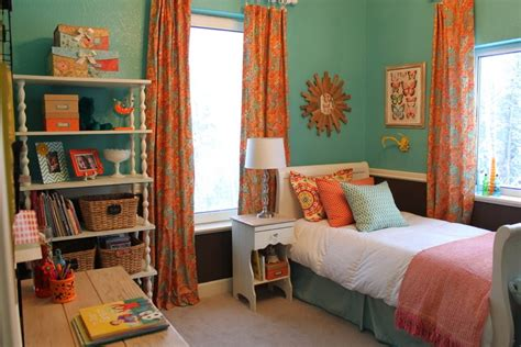 turquoise and orange bedroom all mimsy amaya s room reveal