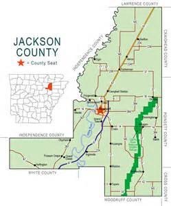 jackson county map encyclopedia of arkansas