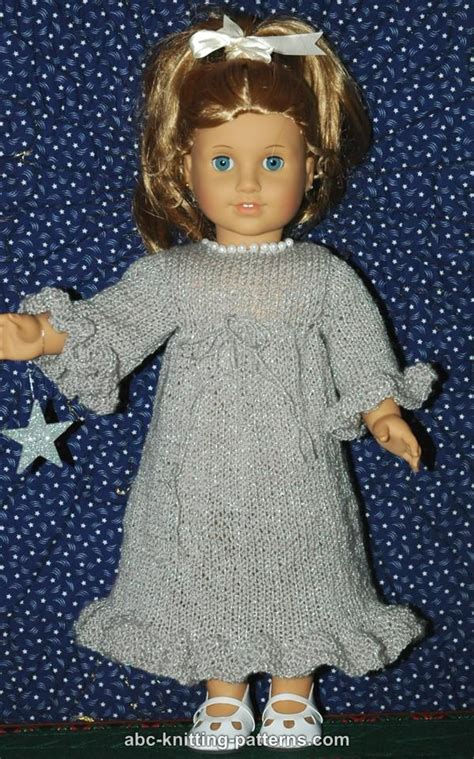 free knitting patterns for american dolls abc knitting patterns american doll evening dress