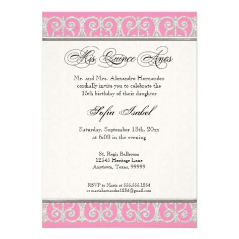 invitations templates for quinceaneras in spanish quince anos invitations verses in spainsh