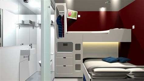 Flat Floor Plan Design by Snoozebox Portable Shipping Container Hotel