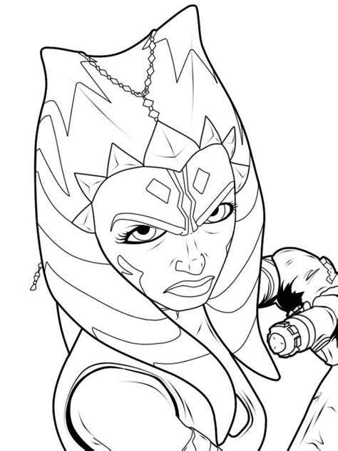 coloring pages ashoka 1000 images about wars on jedi
