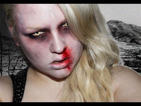 zombie makeup tutorial dark skin halloween tutorial zombie showgirl nikkietutorials