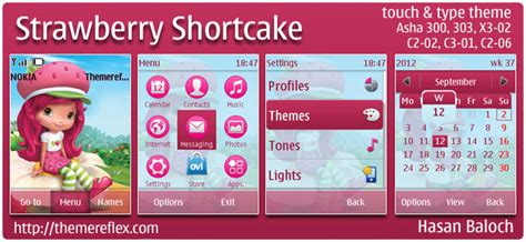 beautiful girl themes nth strawberry shortcake theme for nokia asha 303 300 x3 02