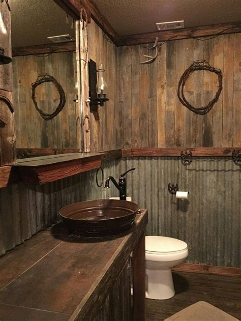 awesome rustic bathroom ideas  men rusticbathroom