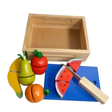 Mainan Kayu Roti Potong buah potong mainan kayu