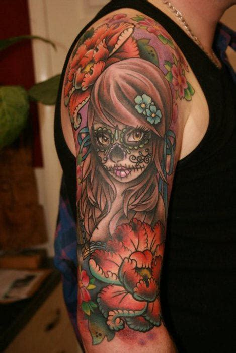 dia delos muertos tattoos for men awesome dia de los muertos
