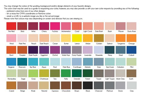 new color collection chart nicole s blog emmy designs the new colour chart