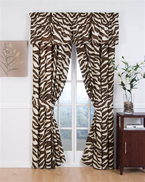 zebra curtain rod brown zebra curtain panels 2 panels interiordecorating