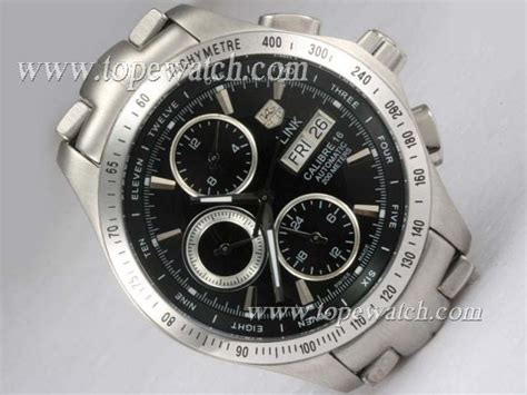 Tag Heuer Quality Aaa 3 Tag Heuer Link Calibre 16 Chronograph Automatic With Black