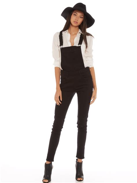 Overall Black T3009 3 cheap monday dungaree overalls in new black denim