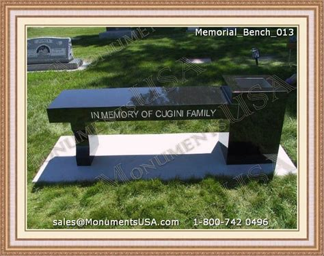 headstone benches what to take to a funeral service