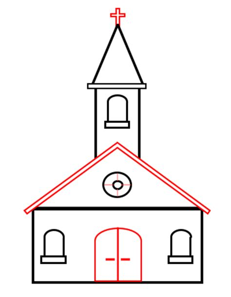 simple house drawing easy potos how to draw a house in 1 drawing a cartoon church
