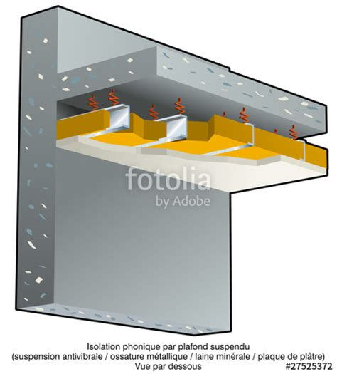 Insonorisation Plafond by Insonorisation Plafond Suspendu Maison Travaux