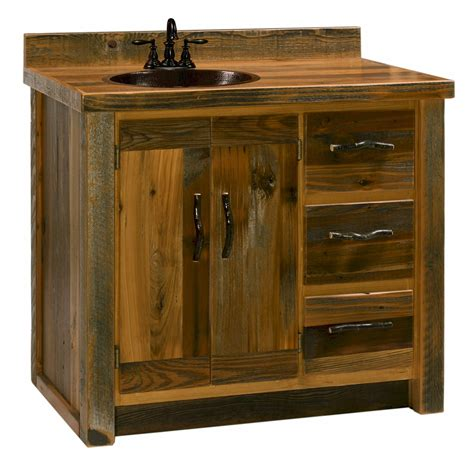 Barnwood Bathroom Vanity Bathroom Ideas White Stained Wooden Vanity For Bathroom With Shelf And Brown Countertop Added