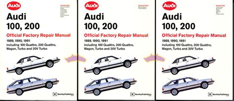 book repair manual 1992 audi 100 free book repair manuals shop manual 200 100 service repair audi book official quattro bentley ebay