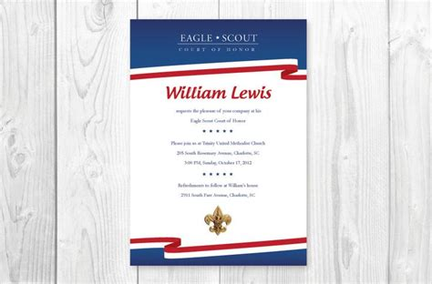 bsa blue card word template 68 best scouts eagle scout invitations images on