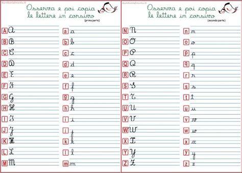 lettere corsive punto croce oltre 25 fantastiche idee su alfabeto corsivo su