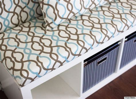 diy banquette seating ikea diy ikea hack is the prettiest banquette seat we ve ever