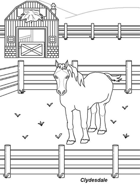 horse barn coloring page free coloring pages of picture of stable