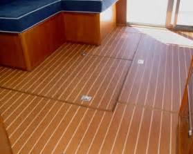 interior teak holly vinyl flooring on display at fort lauderdale international boat show 2011