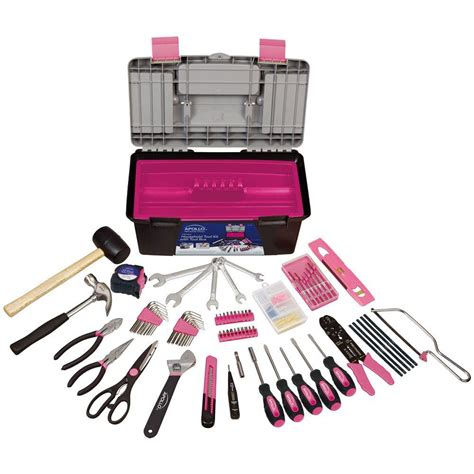 Pink Pc Kit by Apollo 170 Household Tool Kit With Tool Box In Pink