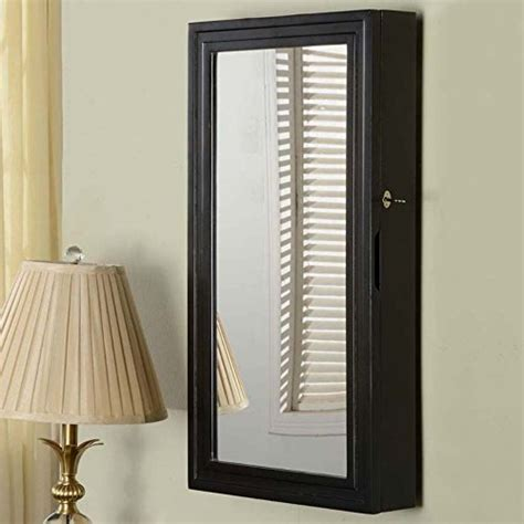 full length mirror wall mount jewelry armoire black wide locking wall mounted full length mirror jewelry