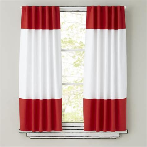 Kids Curtains Red And White Curtain Panels The Land Of Nod