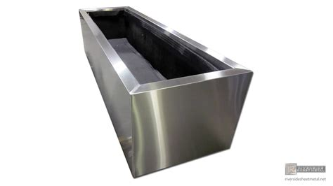 Sheet Metal Planters by Planters Window Flower Boxes Copper Stainless Steel