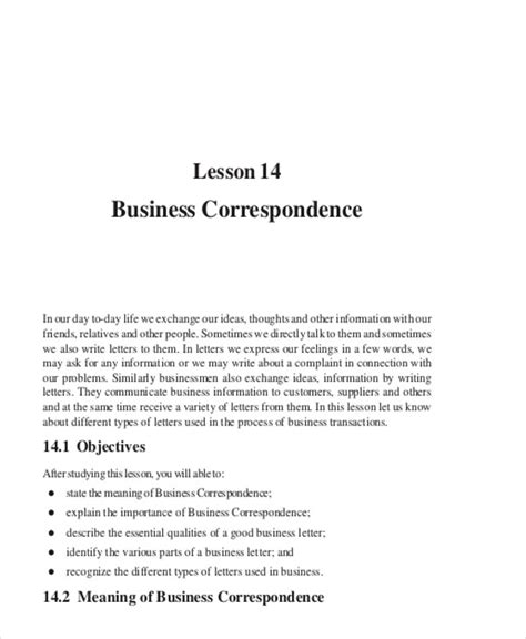 business letters correspondence 90 sle letters in pdf sle templates
