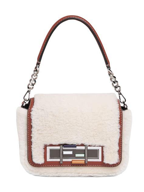 Tas Fendi 3 Baguette fendi 3 baguette chain shearing bag in white white lyst