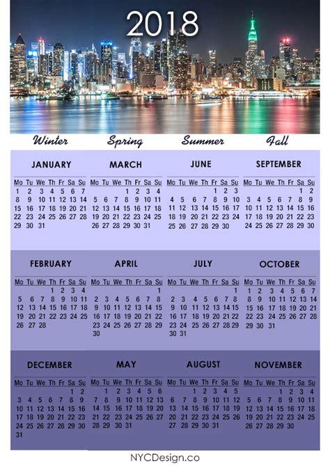 Calendar 2018 New York New York Web Design Studio New York Ny 2018 Calendar