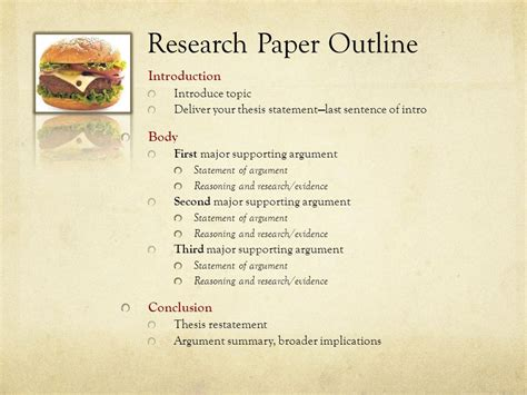Thesis Statement Research Paper Outline by Outline Thesis Paper College Homework Help And