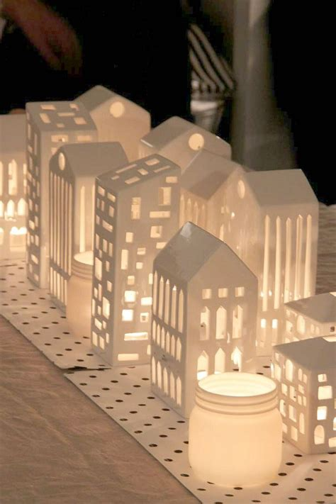 How To Make A Paper Lighter - make quot quot buildings out of cardboard modge podge then