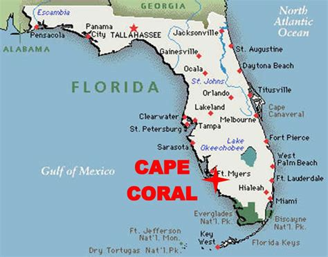 map of cape coral fl travel info