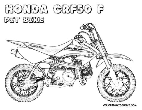 Hard Rider Dirtbike Print Outs Pocket Bikes Free Pit Dirtbike Coloring Pages