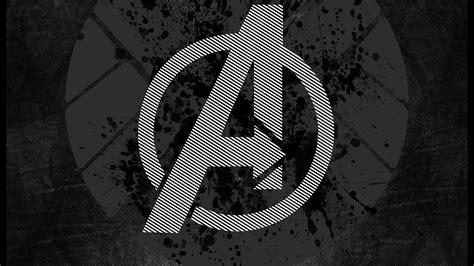 avengers logo art hero dark papersco