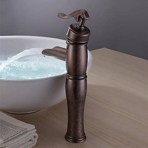 retro copper bathroom sink faucet vintage centerset