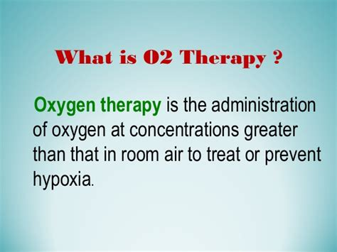 room air hypoxia oxygen therapy