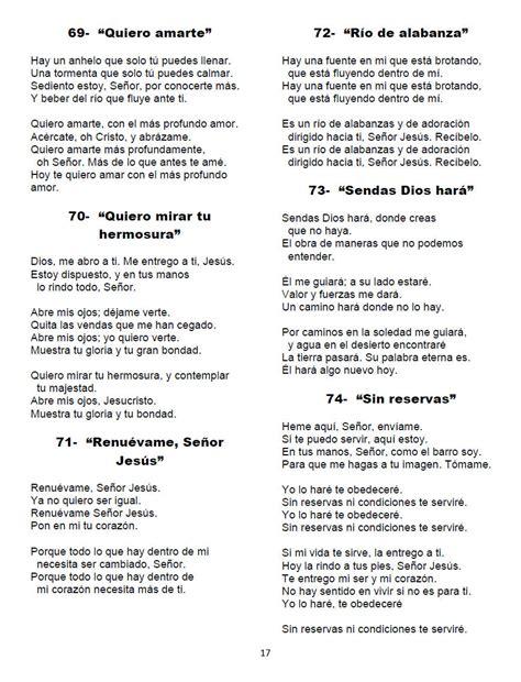letra de cantos cristianos letra de cantos cristianos para imprimir salmos himnos y