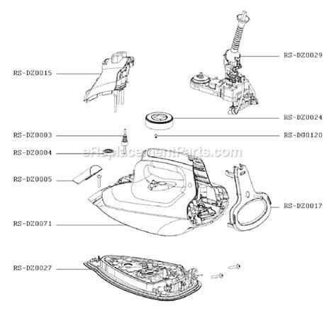 rowenta iron parts diagram rowenta dz5065u1 parts list and diagram
