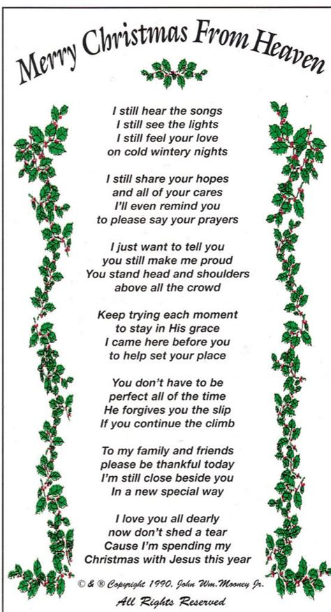 christmas  heaven quotes  poems quotesgram
